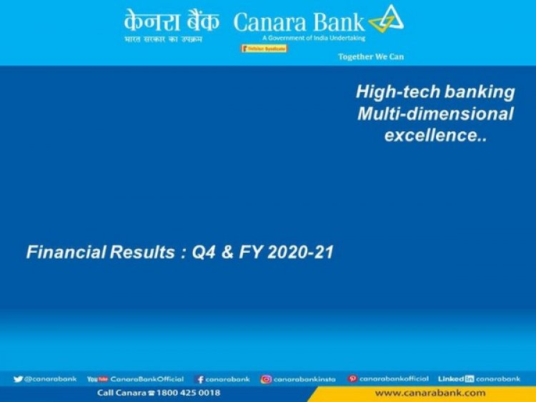Canara Bank back in profit at Rs 1,011 crore on lower provisioning