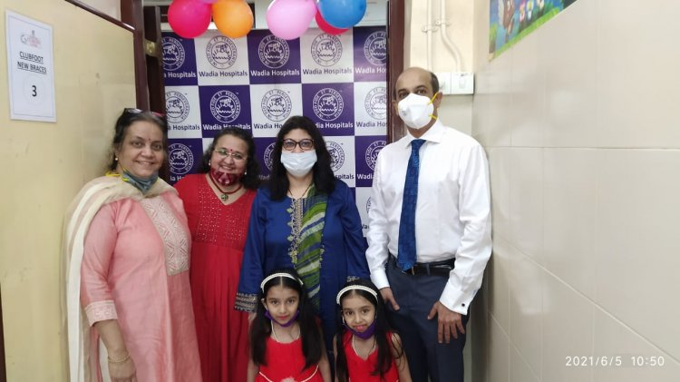 The Bai Jerbai Wadia Hospital For Children Launched Brace Bank and Self Sufficient Clinic Scheme Inaugurated by twins Riddhi-Siddhi