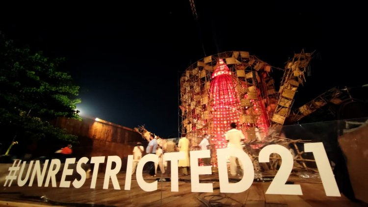 #UNRESTRICTED21 raises the bar globally with the magnum opus art installation
